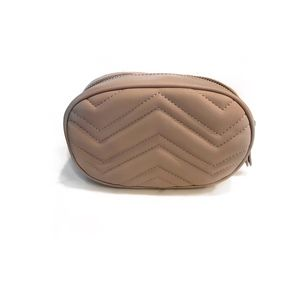 Handbags - Quilted Nude Faux Leather Waist Bag /Fanny Pack